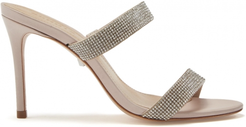 Schutz Shoes Beatriz Sandal - 5.5 Nude Nubuck Sandals