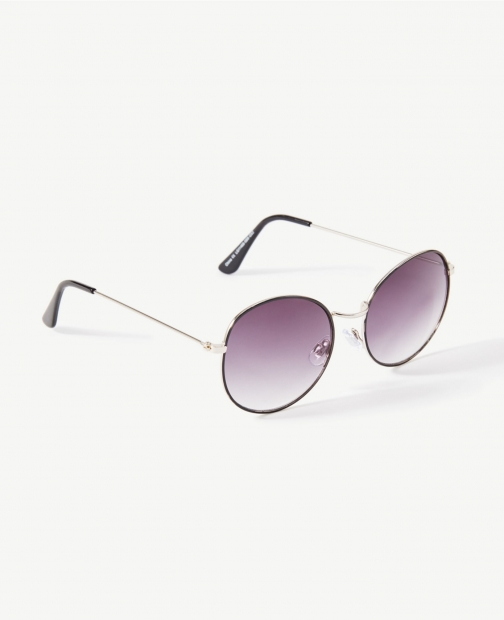 Ann Taylor Factory Metallic Round Sunglasses