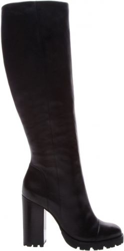 Schutz Shoes Tall - 5 Black Leather Boot