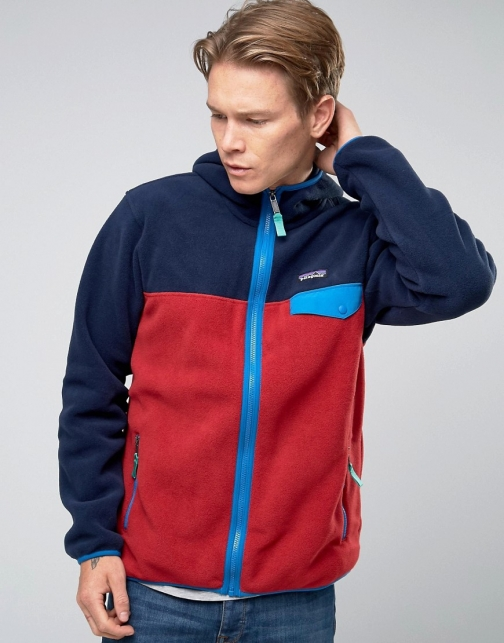 Patagonia Lightweight Snap T Hooded Red Fleece