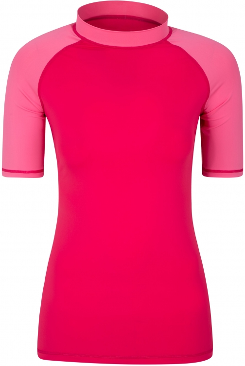 Mountain Warehouse Womens UV Rash Vest - Pink Top