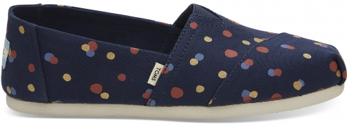 Toms Navy Party Dots Women's Classics Slip-On Shoes