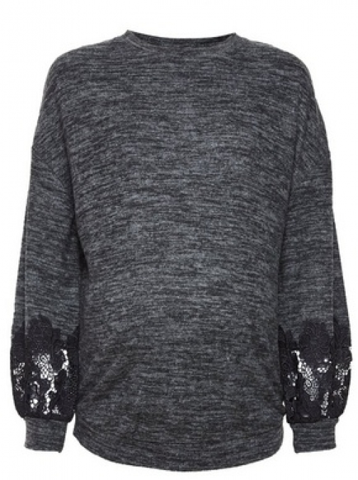 Dorothy Perkins Maternity Charcoal Brushed Lace Top