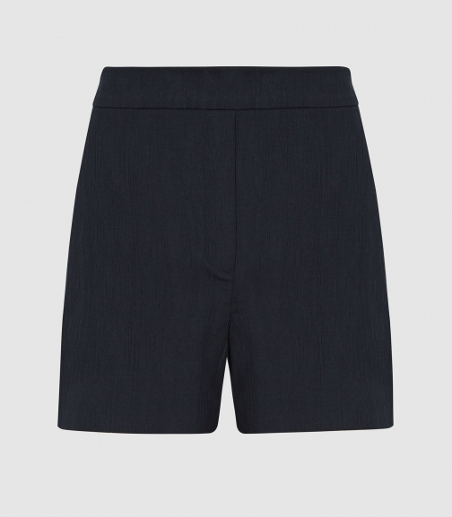 Reiss Lana - Textured Tailored Navy, Womens, Size 4 Short