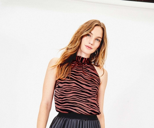 Oasis Tiger Stripe Bow Top
