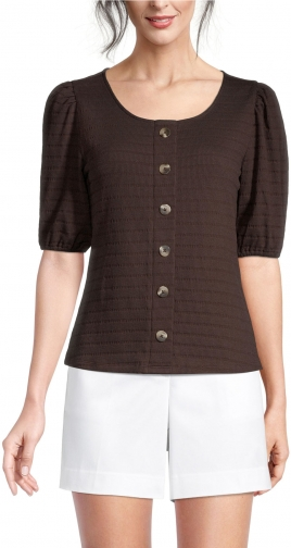 Ann Taylor Factory Striped Button Peplum Top