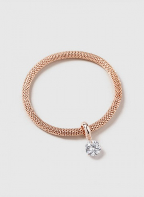 Dorothy Perkins Rose Gold Cubic Zirconia Drop Wristwear Jewellery