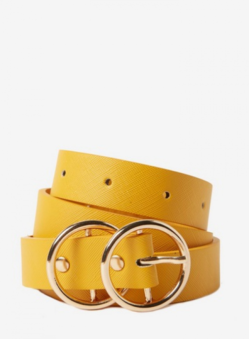 Dorothy Perkins Mustard Double Circle Belt