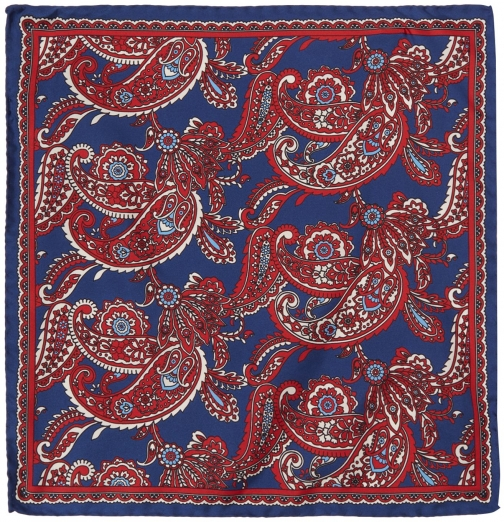 House Of Fraser Turner & Sanderson Hythe Floral Paisley Silk Pocket Square