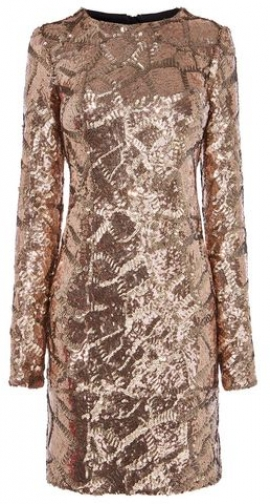 Karen Millen Sequin Mini Bodycon Dress