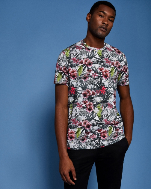 Ted Baker Ss All Over Printed T-Shirt