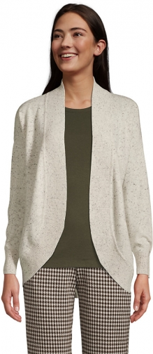 Lands' End Women's Cashmere Cocoon Sweater - Lands' End - Gray - XS Cardigan