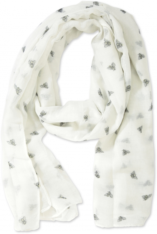 Mountain Warehouse Bee Printed Lightweight - White Scarf