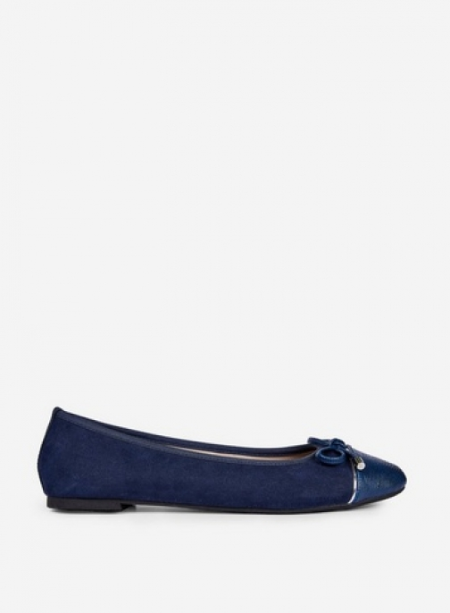 Dorothy Perkins Wide Fit Navy 'Pisa' Pumps