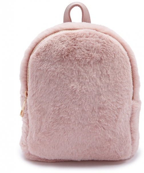 Forever21 Forever 21 Faux Fur Mini Pink Backpack