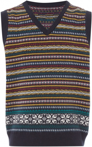 House Of Fraser Howick Junior Boys Fairisle Tank Top