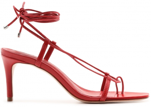 Schutz Shoes Antosha Sandal - 11 Scarlet Leather Sandals