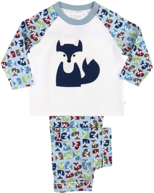 House Of Fraser Mini Vanilla Boys Fox Print Pyjama