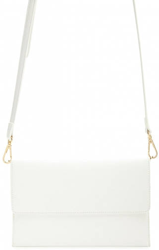 Forever21 Forever 21 Faux Leather , White Crossbody Bag