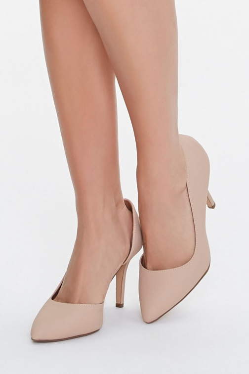 Forever21 Forever 21 Pointed Faux Suede , Nude Pumps