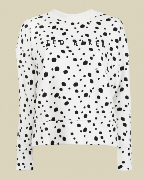 Ted Baker Swarovski® Cotton Blend Dotted Sweatshirt