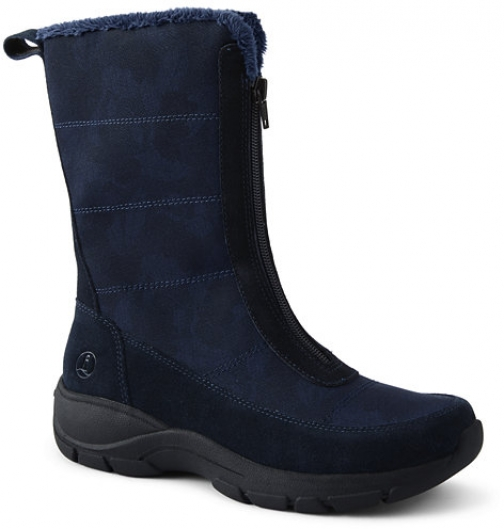 Lands' End Women's All Weather Insulated Winter - Lands' End - Blue - 6 Snow Boot