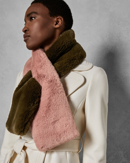 Ted Baker Double Sided Faux Fur Scarf