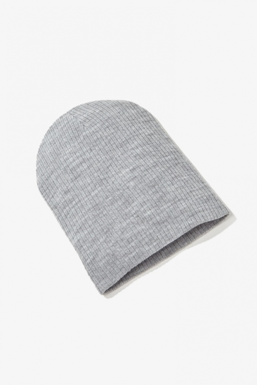 Forever21 Forever 21 Ribbed Knit , Heather Grey Beanie