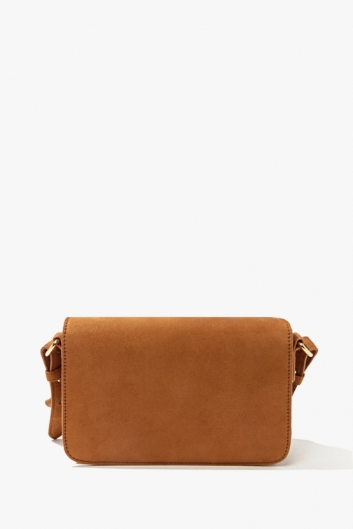 Forever21 Forever 21 Faux Suede Crossbody , Tan Crossbody Bag