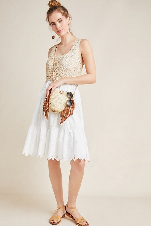 Anthropologie Brittney Crochet-Top Dress