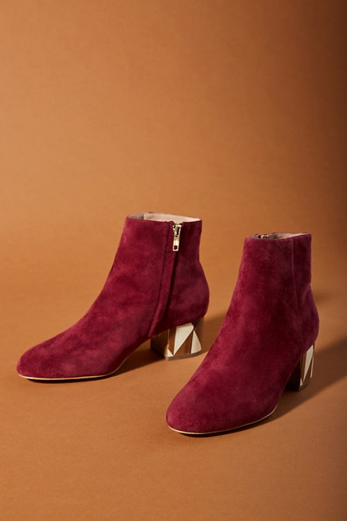 Anthropologie Painted-Heel Boot