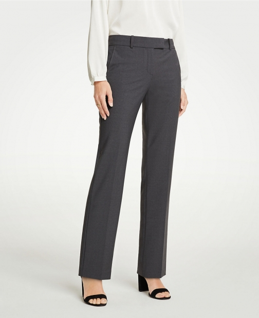 Ann Taylor The Petite Straight Pant Tropical Wool - Classic Fit Suit