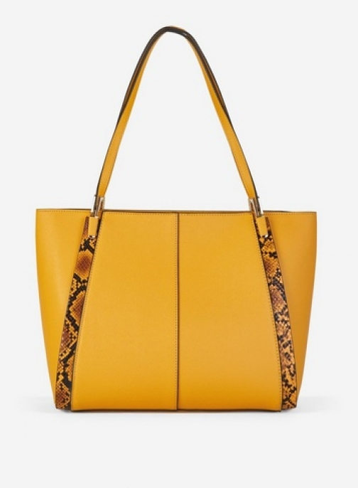 Dorothy Perkins Yellow Panel Shopper Bag