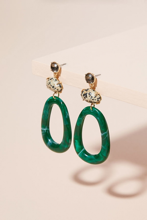 Anthropologie Kathleen Oval Hoop Earring