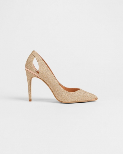 Ted Baker Lurex Heeled Shoes Court