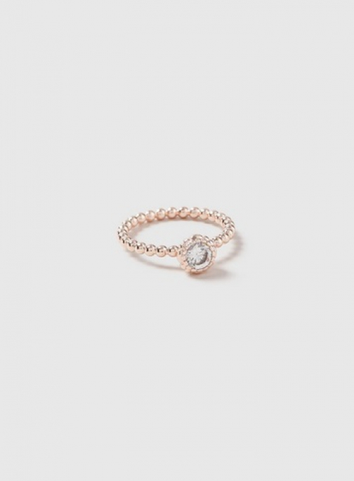 Dorothy Perkins Rose Gold Cubic Zirconia Ring