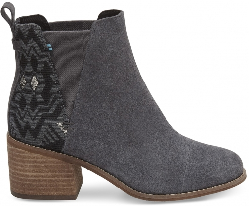 Toms Forged Iron Grey Metallic Jacquard Women's Esme Boot