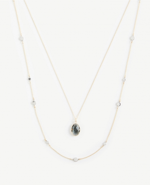 Ann Taylor Stone Delicate Layering Necklace