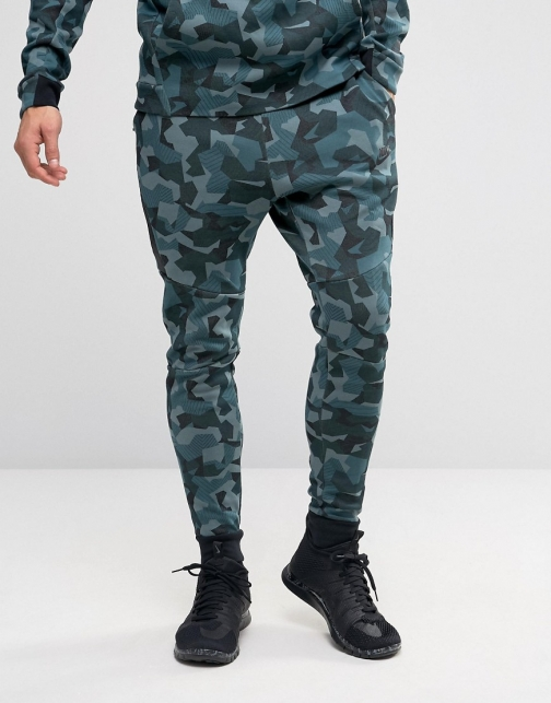 Nike Tech Camo Joggers Green 823499-392 Fleece