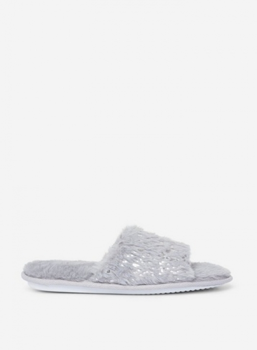 Dorothy Perkins Grey Foil Fleck Pattern Slider