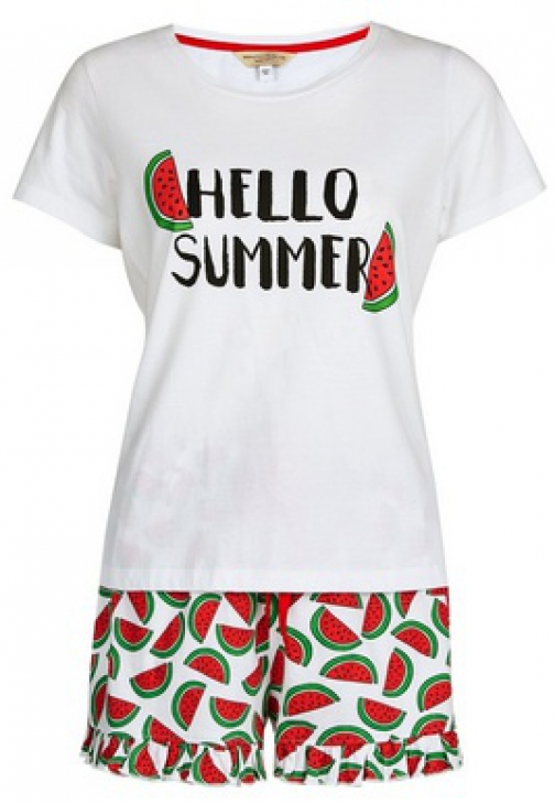 Dorothy Perkins Petite Multi Colour 'Hello Summer' Set Pyjama