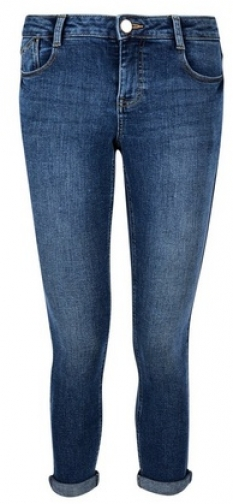 Dorothy Perkins Petite Midwash Blue 'Harper' Low Rise Stretch Skinny Jeans