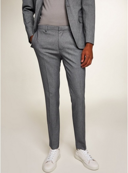 Topman Mens Grey Houndstooth Ultra Skinny Fit Trousers, Grey Trouser