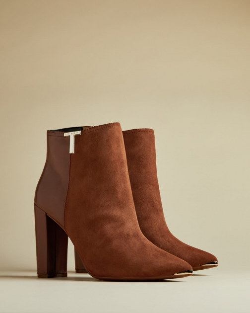 Ted Baker T Detail Suede Ankle Boot