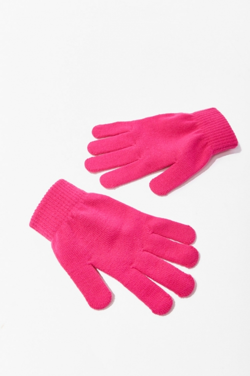 Forever21 Forever 21 Solid Knit , Hot Pink Glove
