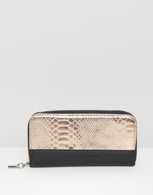 French Connection With Mock Croc Wallet