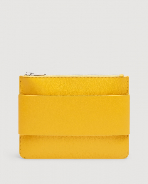 7 For All Mankind Women's Mankind Yellow Clutch