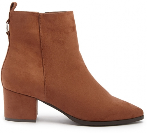 Forever21 Forever 21 Faux Suede Booties Brown Boot
