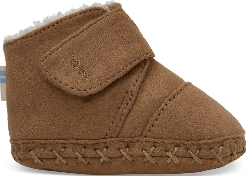 Toms Toffee Microfiber Tiny TOMS Cuna Crib Shoes