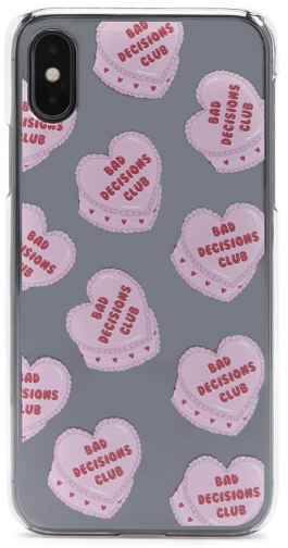 Forever21 Forever 21 Bad Decisions Club Graphic Phone For IPhone X/XS , Pink/multi Case